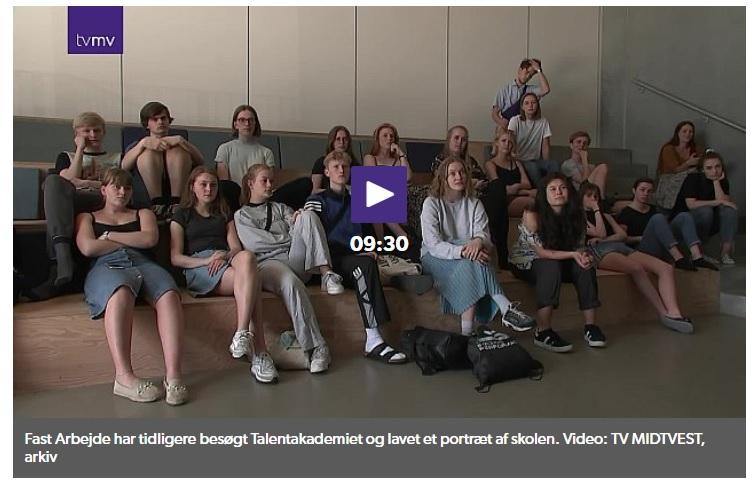 TV MIDTVEST portræt af Dansk Talentakademi i serien 'Fast Arbejde'