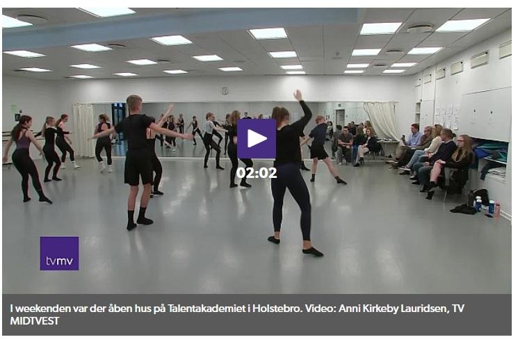 TV MIDTVEST besøgte Dansk Talentakademi til Åbent Hus